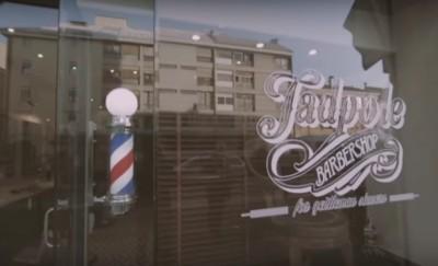 Vetrina barbiere Padova